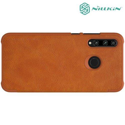 NILLKIN Qin чехол флип кейс для Huawei Honor 10i - Коричневый