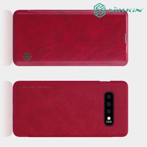 NILLKIN Qin чехол флип кейс для Samsung Galaxy S10 - Красный