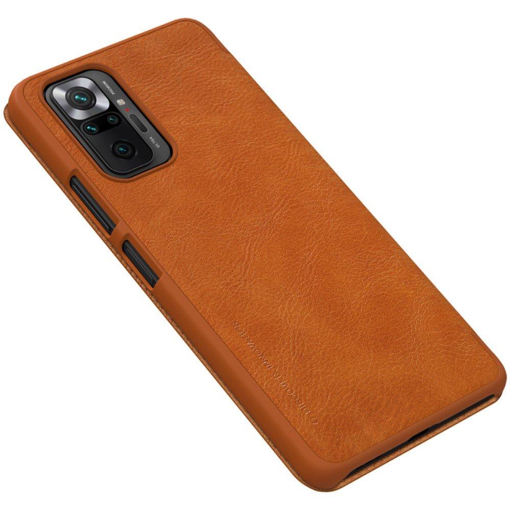 NILLKIN Qin чехол флип кейс для Xiaomi Redmi Note 10 Pro - Коричневый