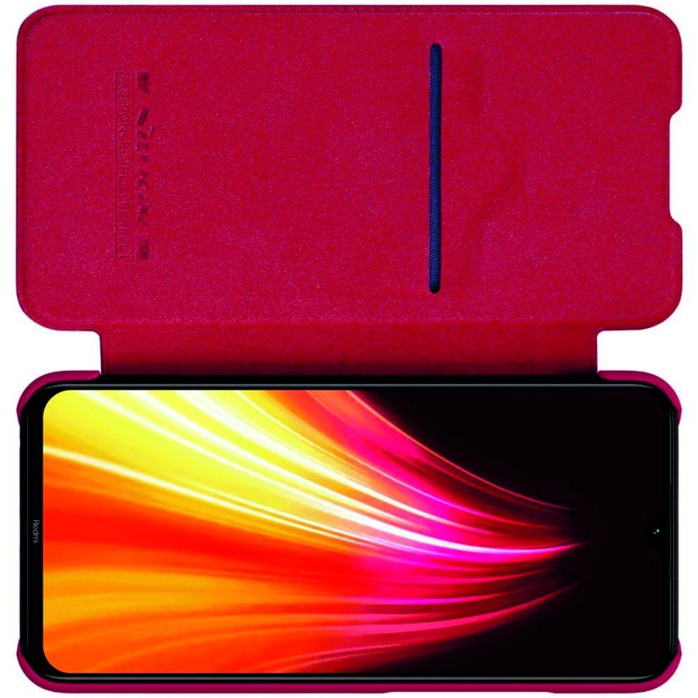 NILLKIN Qin чехол флип кейс для Xiaomi Redmi Note 8 - Красный