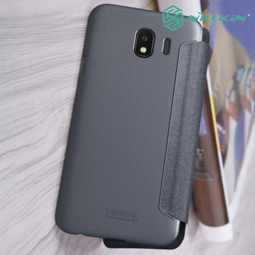 Nillkin Sparkle флип чехол книжка для Samsung Galaxy J4 2018 SM-J400F - Серый