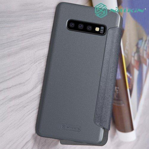 Nillkin Sparkle флип чехол книжка для Samsung Galaxy S10 - Серый
