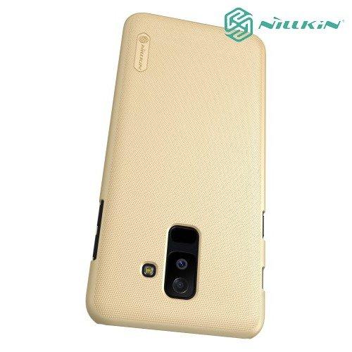 NILLKIN Super Frosted Shield Клип кейс накладка для Samsung Galaxy A6 Plus 2018 SM-A605F - Золотой