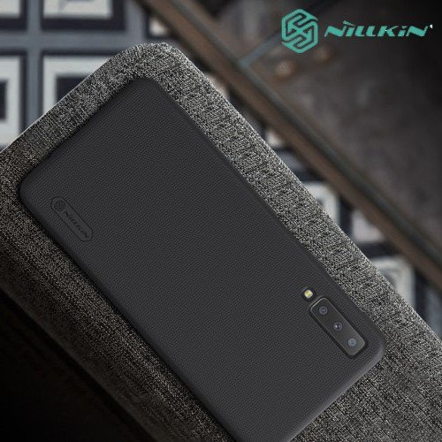 NILLKIN Super Frosted Shield Клип кейс накладка для Samsung Galaxy A7 2018 SM-A750F - Черный