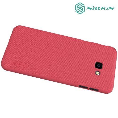 NILLKIN Super Frosted Shield Клип кейс накладка для Samsung Galaxy J4 Plus - Красный