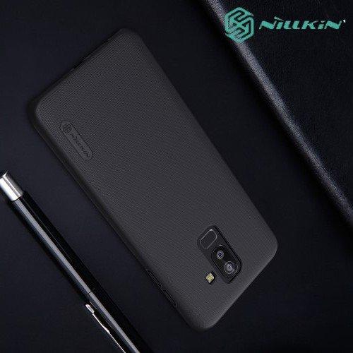 NILLKIN Super Frosted Shield Клип кейс накладка для Samsung Galaxy J8 2018 - Черный