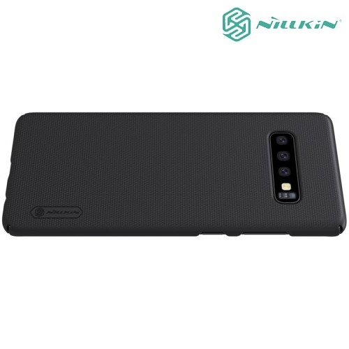 NILLKIN Super Frosted Shield Клип кейс накладка для Samsung Galaxy S10 - Черный