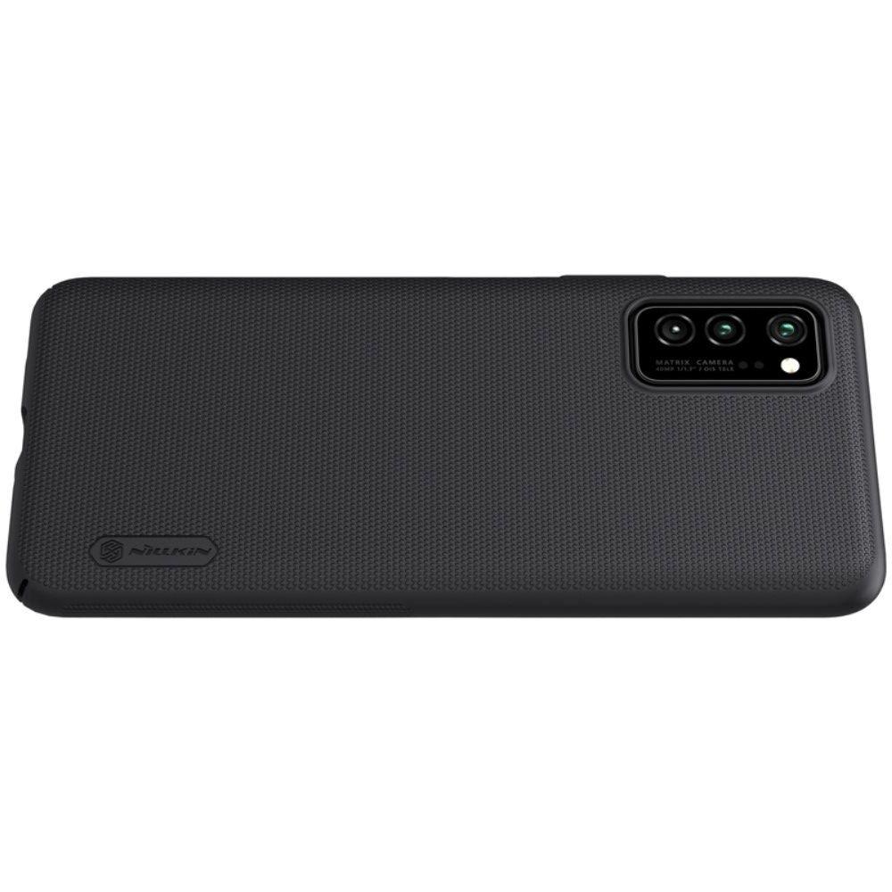 NILLKIN Super Frosted Shield Матовая Пластиковая Нескользящая Клип кейс накладка для Huawei Honor View 30 / View 30 Pro / 30 Pro - Черный