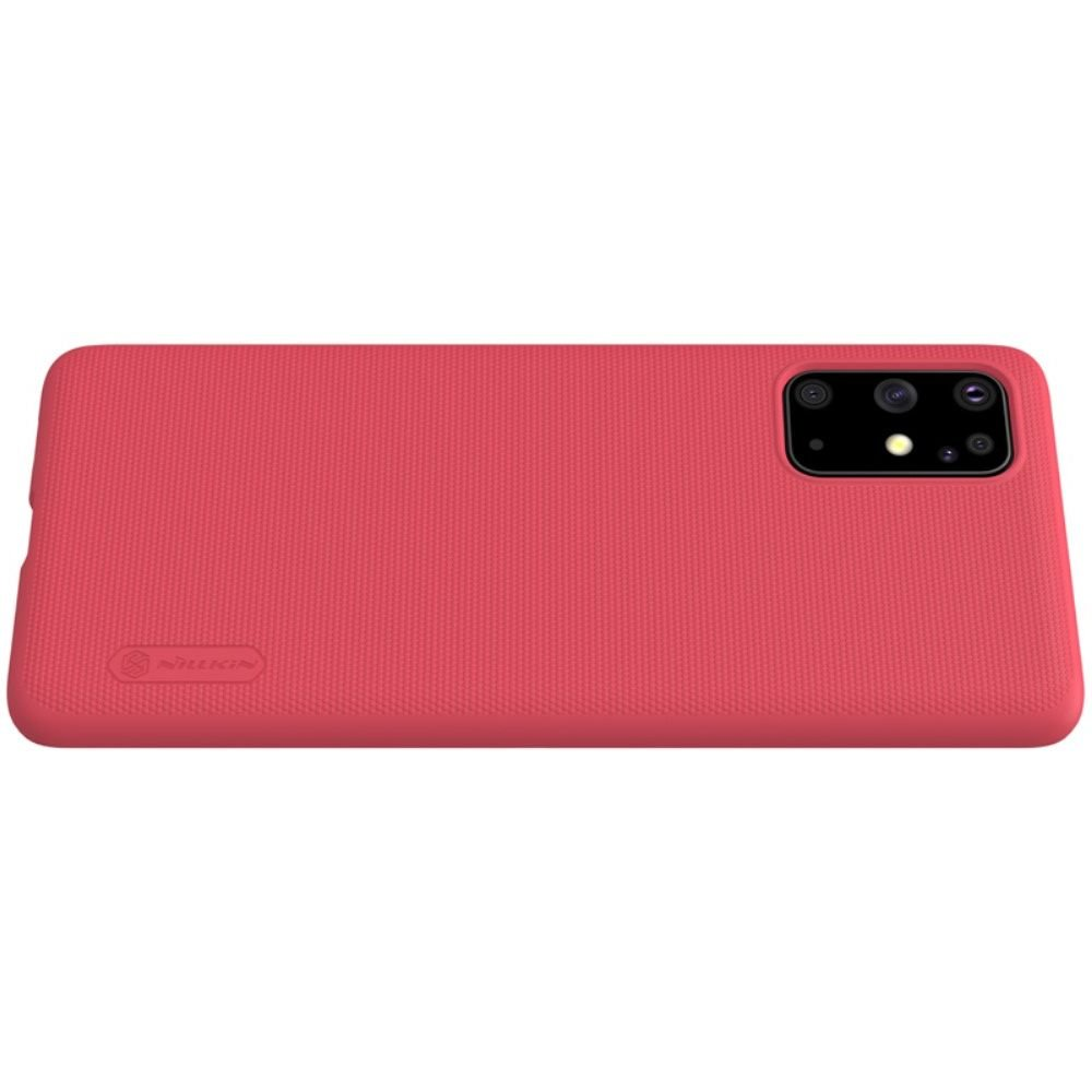 NILLKIN Super Frosted Shield Матовая Пластиковая Нескользящая Клип кейс накладка для Samsung Galaxy S20 Plus - Красный