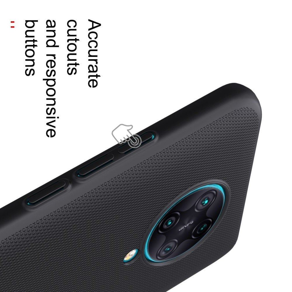 NILLKIN Super Frosted Shield Матовая Пластиковая Нескользящая Клип кейс накладка для Xiaomi Poco F2 Pro - Синий