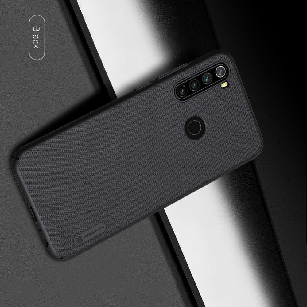 NILLKIN Super Frosted Shield Матовая Пластиковая Нескользящая Клип кейс накладка для Xiaomi Redmi Note 8T - Черный
