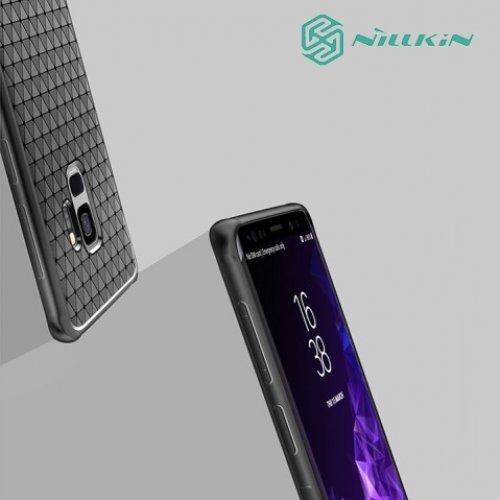 Nillkin Тонкий дышащий силиконовый чехол накладка для Samsung Galaxy S9 - Черный