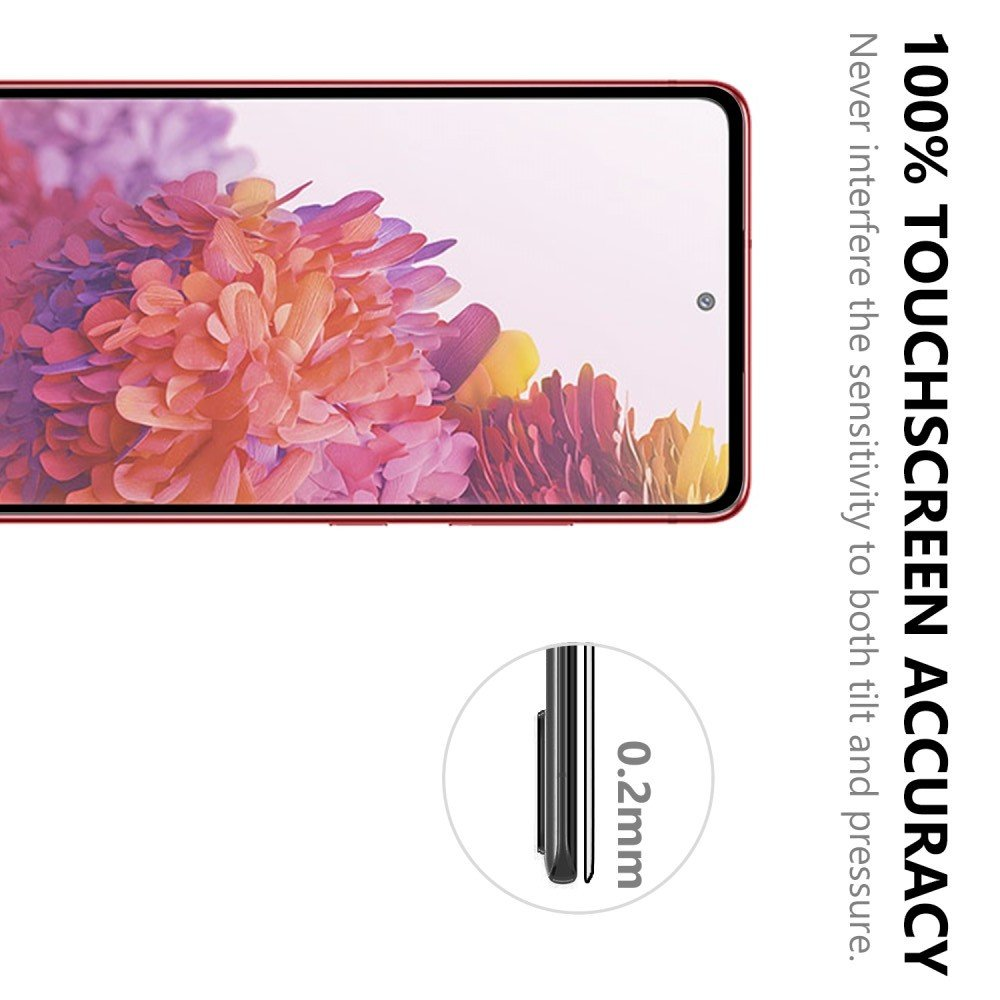 Олеофобное Закаленное Защитное Стекло для Samsung Galaxy S20 FE черное