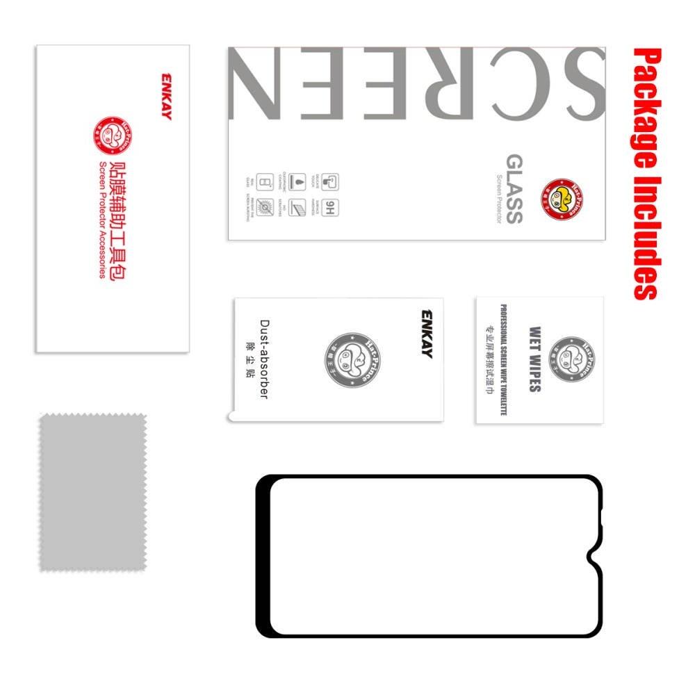 Олеофобное Закаленное Защитное Стекло для Xiaomi Redmi 8A черное
