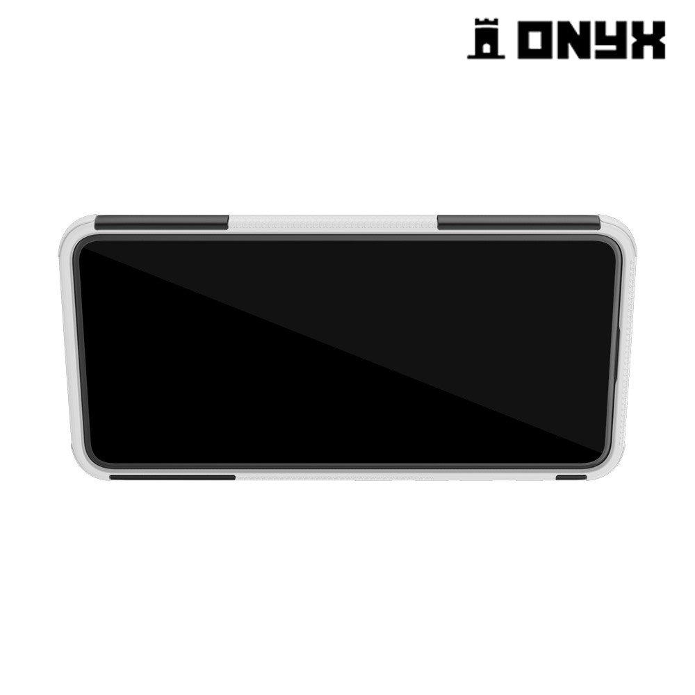 ONYX Противоударный бронированный чехол для Asus Zenfone 6 ZS630KL - Белый