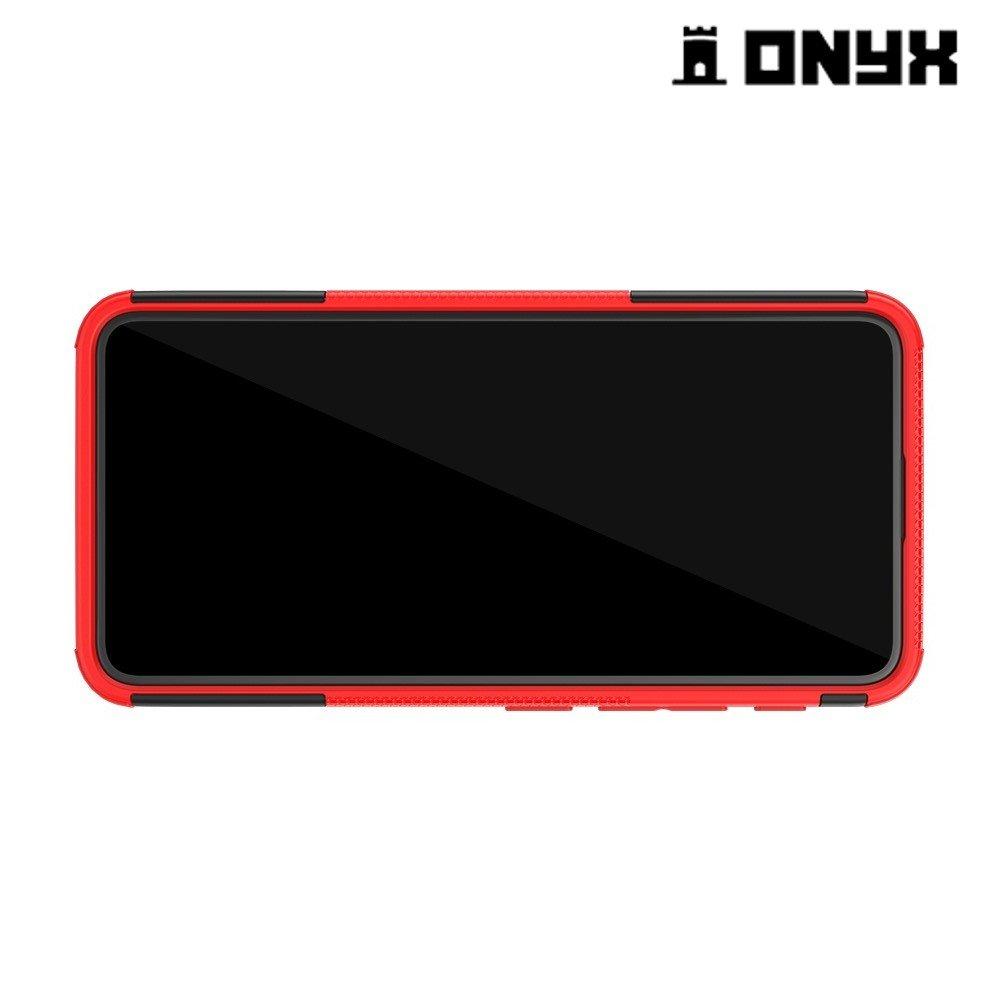 ONYX Противоударный бронированный чехол для Asus Zenfone 6 ZS630KL - Красный