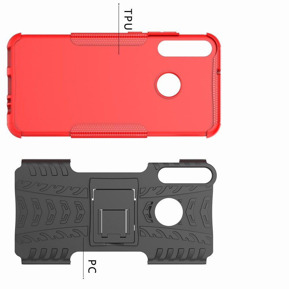 ONYX Противоударный бронированный чехол для Huawei P40 lite E - Красный