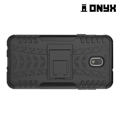 ONYX Противоударный бронированный чехол для Samsung Galaxy J7 2018 - Черный