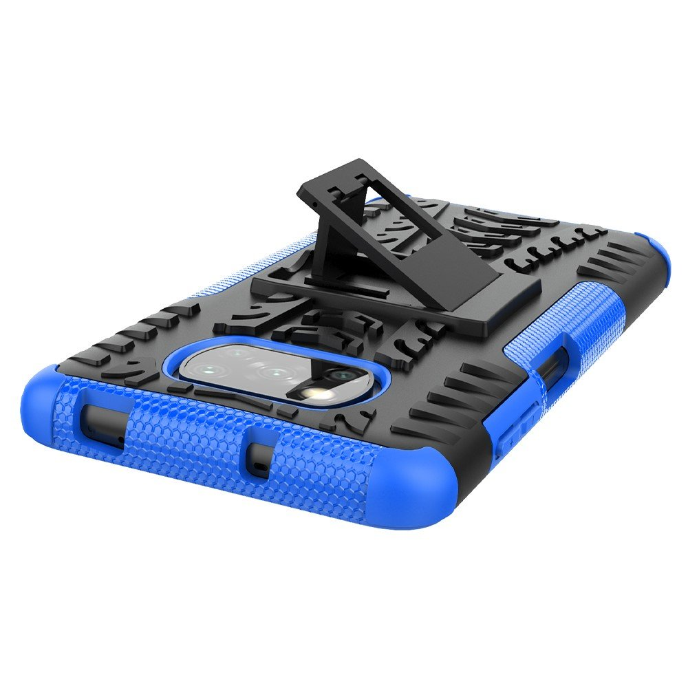 ONYX Противоударный бронированный чехол для Xiaomi Poco X3 NFC - Синий