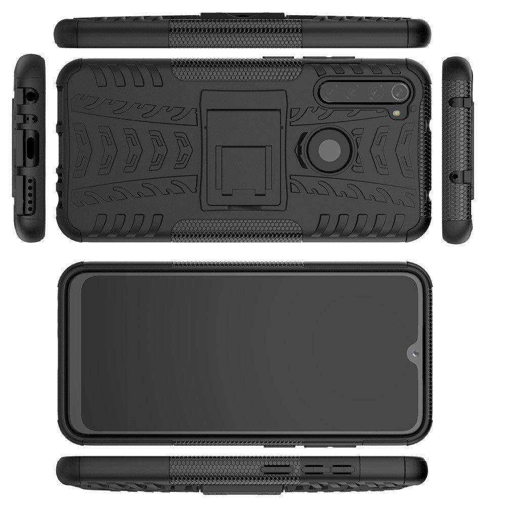 ONYX Противоударный бронированный чехол для Xiaomi Redmi Note 8 - Черный