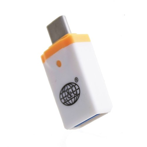 OTG переходник USB - USB Type-C Белый
