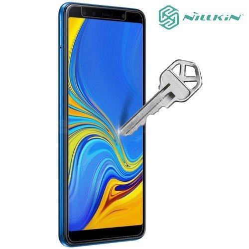 Противоударное закаленное стекло на Samsung Galaxy A7 2018 Nillkin Amazing 9H