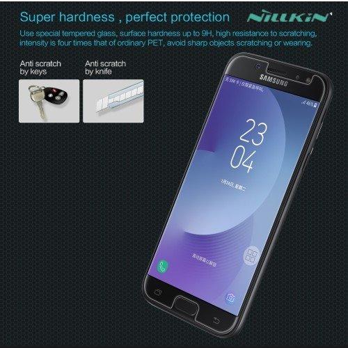 Противоударное закаленное стекло на Samsung Galaxy J7 2017 SM-J730F Nillkin Amazing 9H