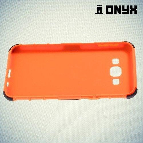 Противоударный защитный чехол для Samsung Galaxy A8 - оранжевый