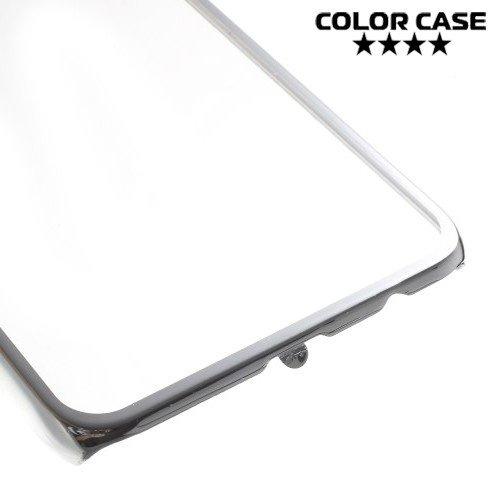 Прозрачный кейс для Samsung Galaxy S6 Edge Plus - Серебряный