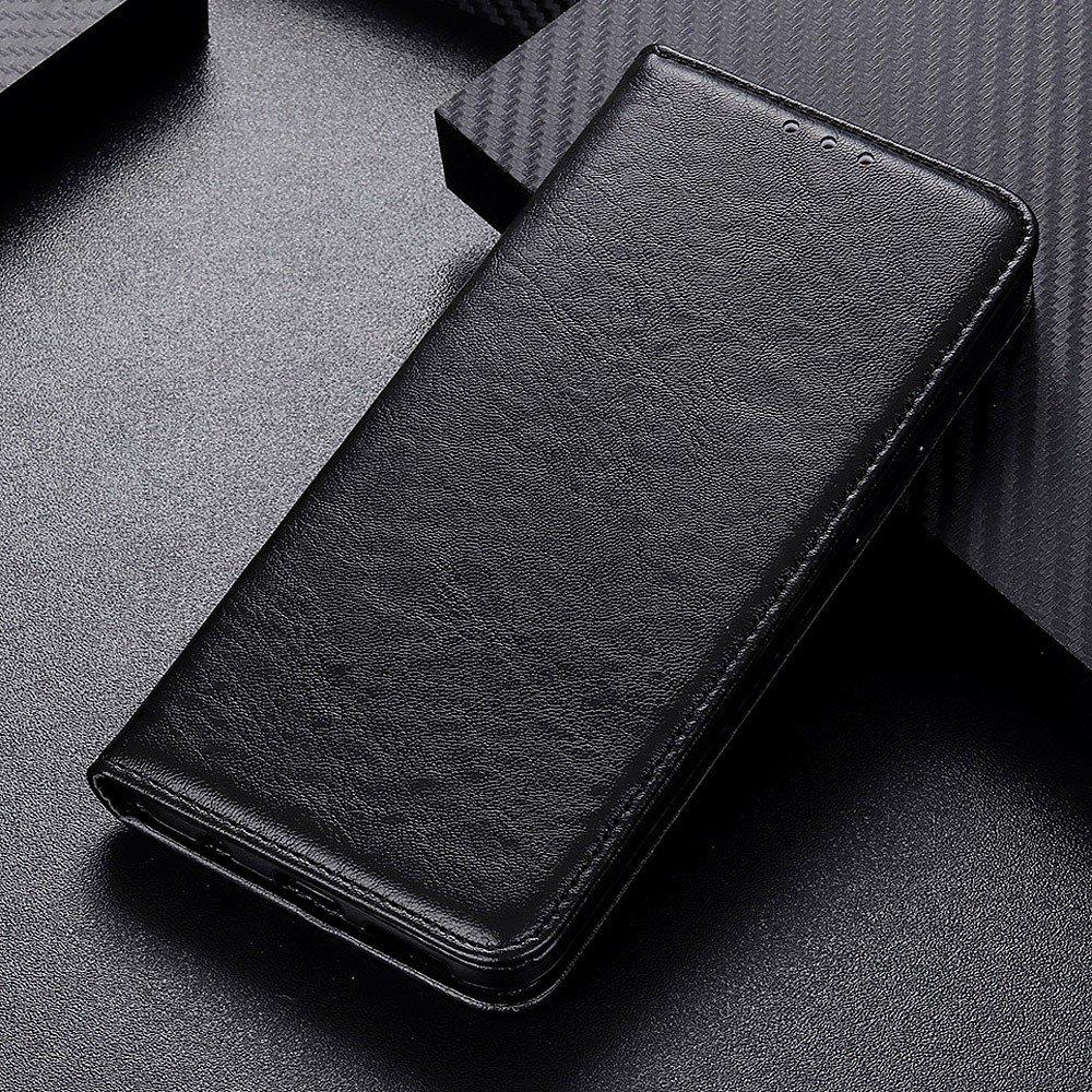 PU Кожаный Чехол Книжка с Кошельком и Подставкой для Oppo A74 Черный