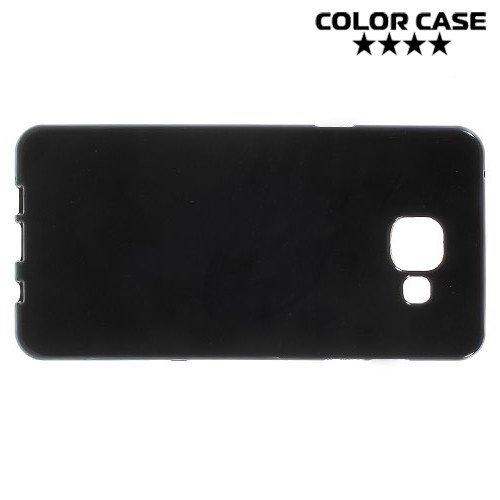 Силиконовый чехол для Samsung Galaxy A5 2016 SM-A510F - Глянцевый Черный