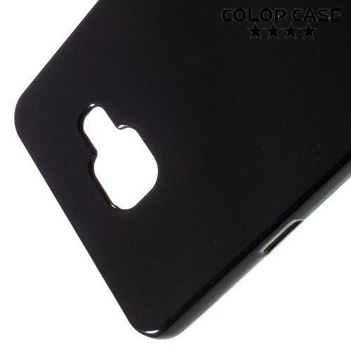 Силиконовый чехол для Samsung Galaxy A7 2016 SM-A710F - Глянцевый Черный