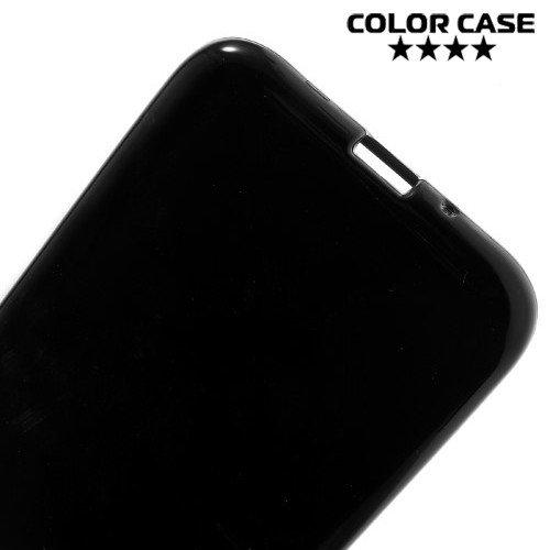 Силиконовый чехол для Samsung Galaxy J1 2016 SM-J120F - Глянцевый Черный