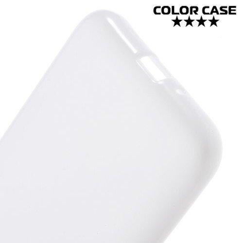 Силиконовый чехол для Samsung Galaxy J1 2016 SM-J120F - Глянцевый Белый