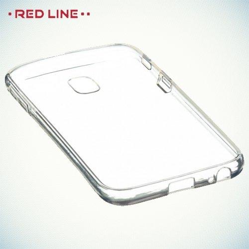 Red Line Силиконовый чехол для Samsung Galaxy J3 2017 SM-J327 - Глянцевый Прозрачный