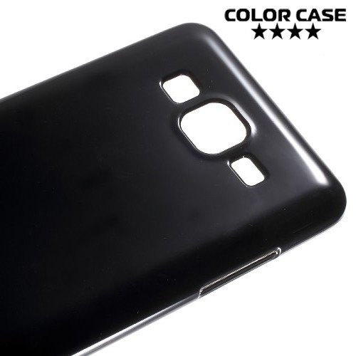 Силиконовый чехол для Samsung Galaxy On5 - Глянцевый Черный