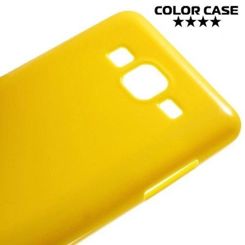 Силиконовый чехол для Samsung Galaxy On5 - Глянцевый Желтый