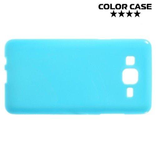 Силиконовый чехол для Samsung Galaxy On5 - Глянцевый Голубой