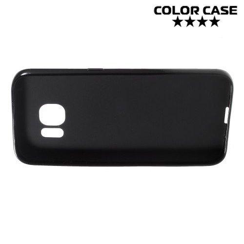 Силиконовый чехол для Samsung Galaxy S7 - Глянцевый Черный