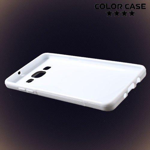 Силиконовый чехол для Samsung Galaxy A5 - белый S-образный