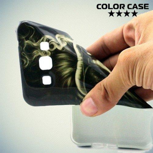 Силиконовый чехол для Samsung Galaxy A8 с рисунком Обезьяна с сигаретой
