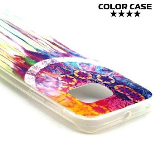 Силиконовый чехол для Samsung Galaxy S6 Edge с орнаментом Ловец Снов