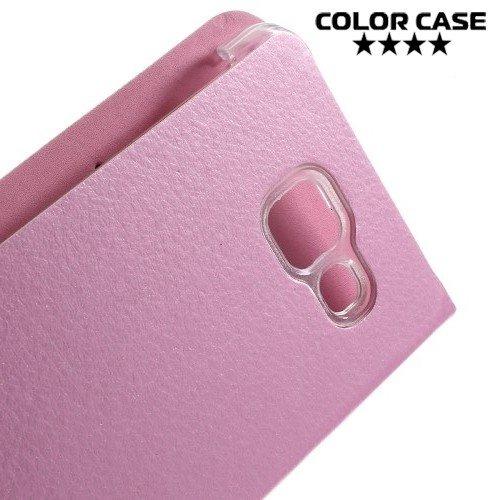Тонкий чехол книжка для Samsung Galaxy A3 2016 SM-A310F - Розовый