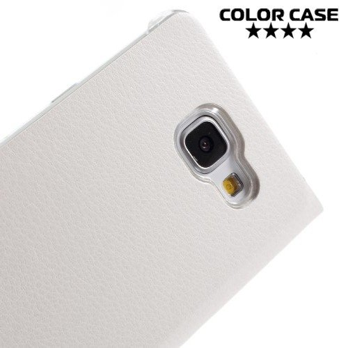 Тонкий чехол книжка для Samsung Galaxy A5 2016 SM-A510F - Белый