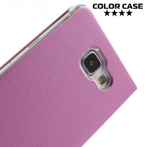 Тонкий чехол книжка для Samsung Galaxy A5 2016 SM-A510F - Розовый