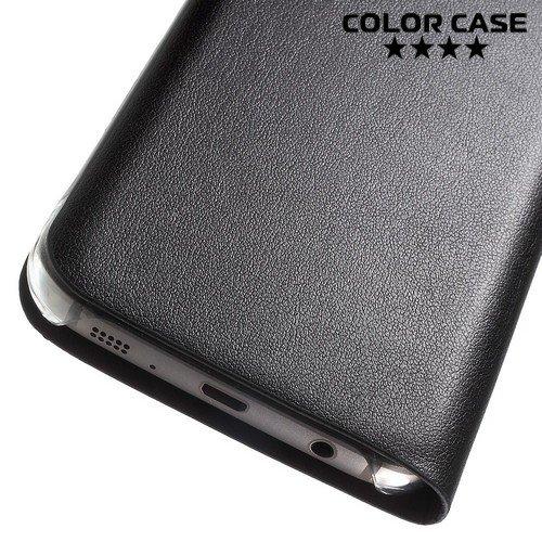 Тонкий чехол книжка для Samsung Galaxy S7 - Черный
