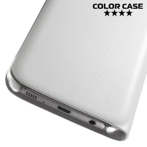 Тонкий чехол книжка для Samsung Galaxy S7 - Белый