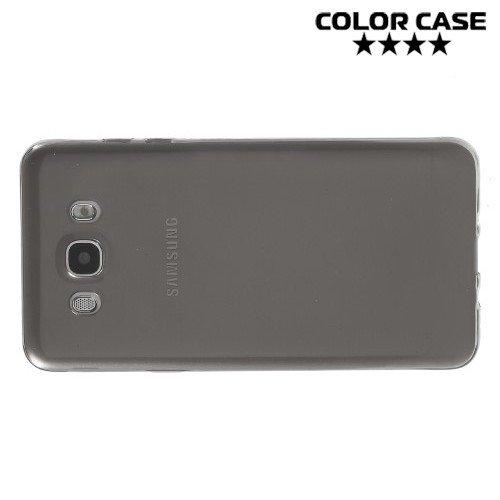 Тонкий силиконовый чехол для Samsung Galaxy J7 2016 SM-J710F - Серый