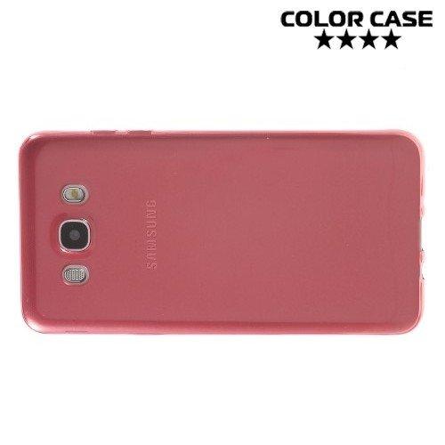 Тонкий силиконовый чехол для Samsung Galaxy J7 2016 SM-J710F - Красный