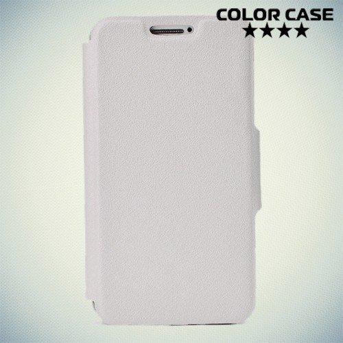Чехол книжка для телефона 4.5-4.8 дюйма универсальный - белый